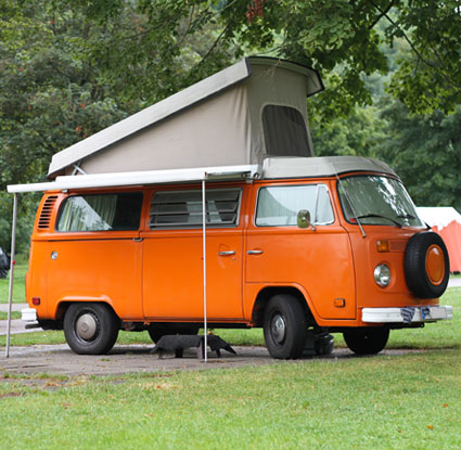 The folding caravan
